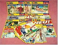 19 X Lidl Reklame Prospekte Von 2004 / 2005   - Insgesammt  Ca. 130 Seiten Großformat - Reklame