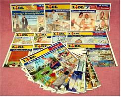 21 X Lidl Reklame Prospekte Von 2004 / 2005   - Insgesammt  Ca. 170 Seiten Großformat - Reklame