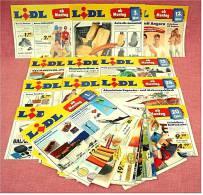 24 X Lidl Reklame Prospekte Von 2004 / 2005   - Insgesammt  Ca. 180 Seiten Großformat - Reklame