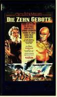 VHS Video , Die Zehn Gebote  -  Mit : Brynner Yul,  Anderson Judith , Mather Jack , Dobkin Lawrence  -  Von 2001 - Classic