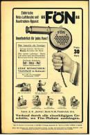 Reklame Von 1914 ,  Fön  , Elektrische Heiss-Luftdusche Und Haartrocken-Apparat  -  Werbeanzeige - Wissenschaft & Technik