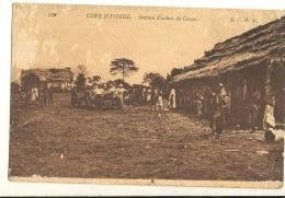 COTE D IVOIRE  STATION D ACHAT DE CACAO (bien  Regarde Trasse De Mittes )  92 - Côte-d'Ivoire