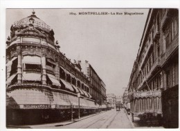 CP 10*15/S462/MONTPELLIER REPRODUCTION AU TEMPS JADIS RUE MAGUELONNE - Montpellier
