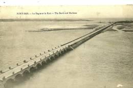 Port-Bail. La Digue Et Le Port . - France