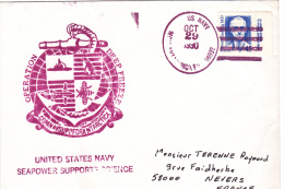 SUBMARINE, SOUS-MARINS, UN NAVY, OPERATION DEEP FREEZ, ANTARCTIC EXPEDITION, SPECIAL COVER, 1990, USA. - Submarines
