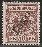 ALEMANIA 1897 (TOGO) - Yvert #6 - MLH  * - Colonia: Togo