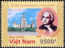 300th Birth Anniversary Of M. V. Lomonosov (1711 - 1765) - Vietnam Issue - Writers