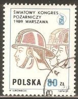 Poland 1989 Mi# 3212 Used - World Fire Fighting Congress, Warsaw - 1944-.... Republiek
