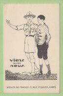 Paul COZE : Viens Avec Nous ! Scouts De France. 2 Scans. - Scoutisme