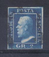 AP909 - SICILIA , 2 Grana Bello Ma Con Taglietto Riparato In Alto A Dx . - Sicilia