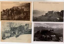 4 Cartes Château De Miolans - Saint Pierre D'Albigny