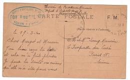 FRANCHISE MILITAIRE - WW2 - CORRESPONDANCE MILITAIRE - CPFM - ECOMMOY - 72 - 1940. - Guerre 1939-45