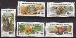 MADAGASCAR Faune+tortue (Yvert N° 627/9+PA177/78) Neuf Sans Charniere. MNH - Reptiles & Batraciens