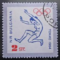 Briefmarke Bulgarien Tokio Olympische Sommerspiele 1964 Sport Weitsprung - Summer 1964: Tokyo
