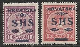 YUGOSLAVIA 1918/19 - Yvert #6/7 - MLH * - 1919-1929 Reino De Los Serbios, Croatas Y Eslovenos