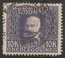 BOSNIA 1912 - Yvert #84 - VFU - Bosnia Herzegovina