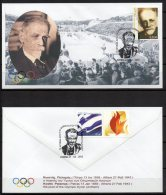 Greece 2013 > Kostis Palamas The Poet Of The Olympic Hymn > Commemorative Postmark On Mi 2412 > Unofficial FDC - Zomer 1896: Athene