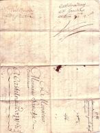 """St Papoul Pour Castelnaudary, Avec Mention """"en Franchise - Voiture, Voir Scan) De 1766,   Lettre Avec Texte TB - Marcophilie (Lettres)"""