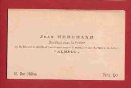 PARIS JEAN HERBRAND Directeur  Ddes Assurances ALMELO - Cartes De Visite
