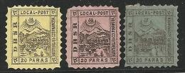 TURQUIA 1867 - Yvert # (locales) - Mint No Gum (*) - Otros