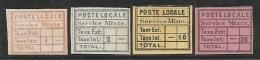TURQUIA 1866 - Yvert #4/7 - Mint No Gum (*) Locales - Otros