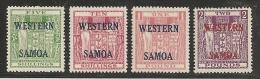 NUEVA ZELANDA/SAMOA 1955 - Yvert #160A/D - MLH * - Fiscal-postal