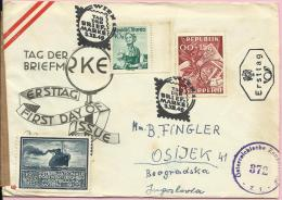 STAMP DAY / Mark Of CENSORSHIP AGENCY, 1949..Austria (Osterreich), Letter - 1945-.... 2a Repubblica