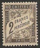 FRANCIA 1881/92 - Yvert #23 - Mint No Gum * (Taxas) - 1859-1955 Nuevos