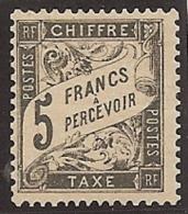 FRANCIA 1881/92 - Yvert #24 * (Taxas) - Precio Cat. #4000 - Impuestos