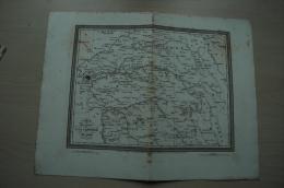 1er EMPIRE Carte Géo Campagne De 1814, Gravure Vers 1842 (Tardieu) ; Ref 039 - Documents Historiques