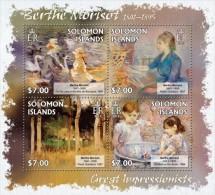 slm13209a Solomon Is. 2013 Painting Impressionist Berthe Morisot s/s Bird Swan