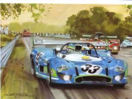Watkins Glen 6 Heures 1973 - Gerard Larrousse/Pescarolo - Matra-Simca - Artwork By Michael Turner - CP - Le Mans