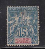 New Caledonia MH Scott #47 15c Navigation And Commerce, Blue - Nouvelle-Calédonie