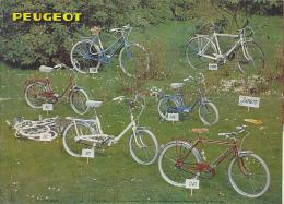 Dépliant Publicitaire (années 1960) : Vélos PEUGEOT, Tout Couleurs, Cycles Piollet, Hardricourt, Toute La Gamme... - Werbung