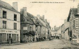 41  SAVIGNY SUR  BRAYE  RUE DU CHAMP DE FOIRE AVEC CAFE  ANIMATION - France