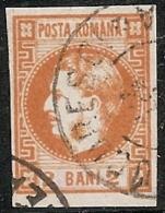 RUMANIA 1868/70 - Yvert #17 - VFU - 1858-1880 Moldavia & Principado