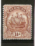BERMUDA 1934 1½d SG 79b LIGHTLY MOUNTED MINT Cat £10 - Bermuda