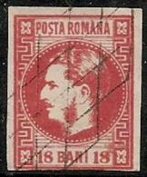 RUMANIA 1868/70 - Yvert #20 - VFU ¡¡¡RARE!!! - 1858-1880 Moldavia & Principado
