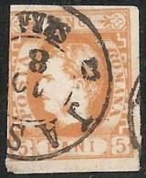 RUMANIA 1869 - Yvert #21 - VFU ¡¡¡RARE!!! - 1858-1880 Moldavia & Principado