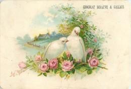 Chromos Réf. C034. Chocolat Debauve & Gallais - Oiseaux, Nid, Roses - Chocolate