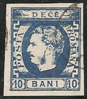 RUMANIA 1869 - Yvert #22 - VFU ¡¡¡RARE!!! - 1858-1880 Moldavia & Principado