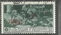 COLONIE ITALIANE SOMALIA 1930 FERRUCCI 25 CENT. USED TIMBRATO - Somalia