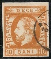 RUMANIA 1871/72 - Yvert #27 - VFU ¡¡¡VERY RARE!!! - 1858-1880 Moldavia & Principado