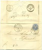 """Belgique - Précurseur Malmédy Vers Pepinster Du 13/07/1867, Timbre Prusse 17, Cachet à Date """"MALMEDY"""", Superbe, See Scan - Preussen"""
