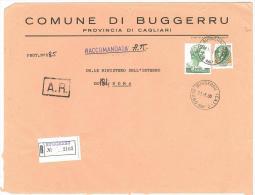 CAP 09010 - BUGGERRU - CA - R - ANNO 1980 - F.TO 18 X 24  - STORIA DEI COMUNI D´ITALIA - Affrancature Meccaniche Rosse (EMA)
