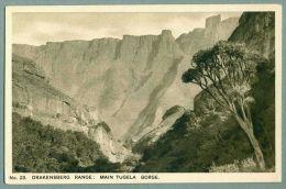Tugela Gorge Drakensberg Range Union Of South Africa Postcard (LL-40) - South Africa