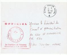 Base Navale De TOULON Capitaine De Vaisseau Commandant Le F L M SUFFREN - Boten