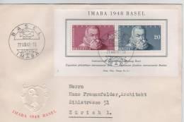 BF Imaba Basel 1948 Obl.Basel Imaba 27.8.48 S/L. De L´EXPO V.Zürich 254 - Suisse