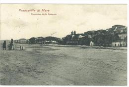 CARTOLINA -  FRANCAVILLA AL MARE - PANORAMA DELLA SPIAGGIA  - ANIMATA - VIAGGIATA NEL 1907 - Chieti