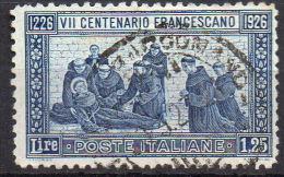 1926 - VII CENTENARIO SAN FRANCESCO  1,25 L Usato - 1900-44 Vittorio Emanuele III